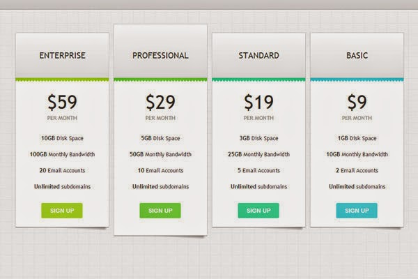 Designing an effective pricing table CSS3