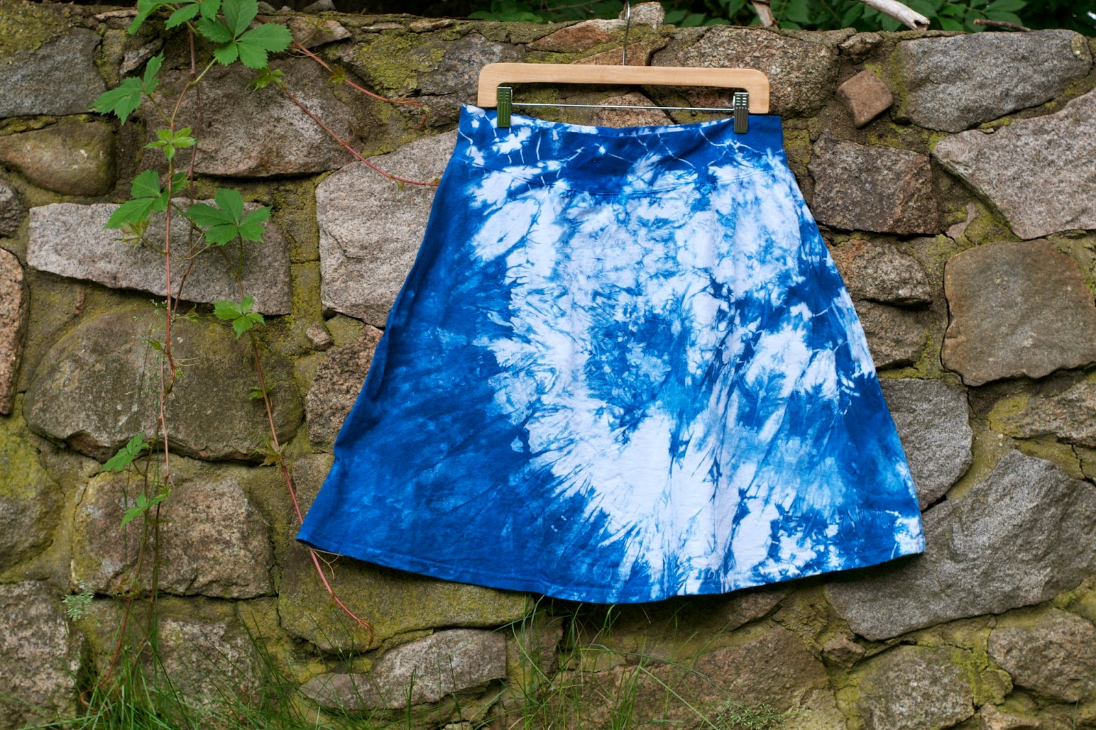 Another indigo shibori skirt.