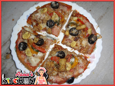 Indian spices pizza