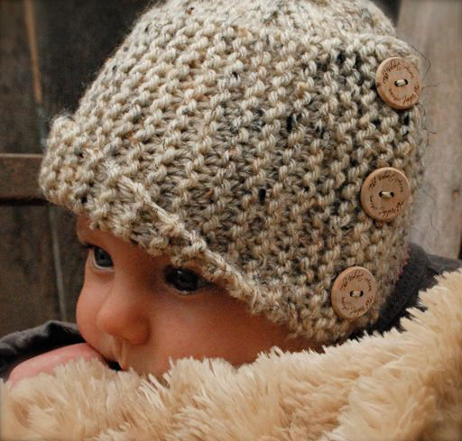 Violet White Poppy Baby Cloche Hat