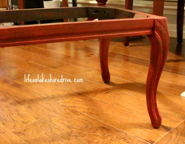 Chevron and Annie Sloan Emperor's Silk Bench Makeover, how-to paint with chalk paint