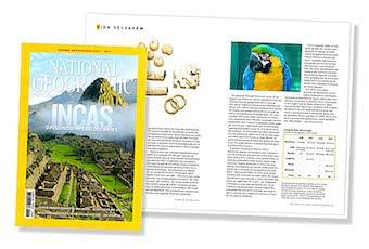 Colaboração na National Geographic de Abril com um artigo sobre trafico de espécies ameaçadas.