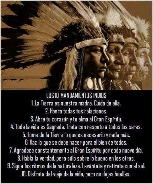 Los 10 mandamientos indios
