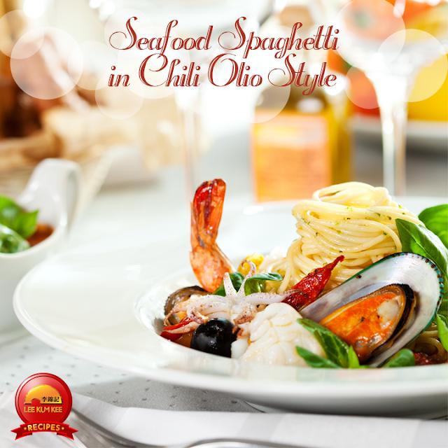 Seafood Spaghetti in Chili Olio Style Recipe