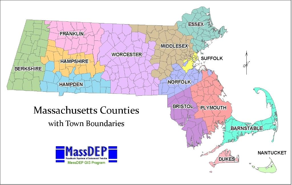 Online Maps: Machusetts County Map on