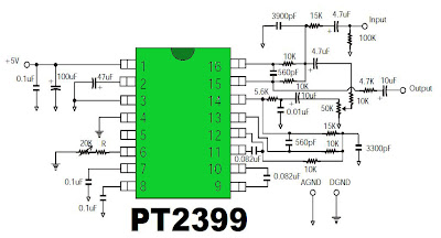 diagram ingram pt2399 digital echo circuit digital echo schematics
