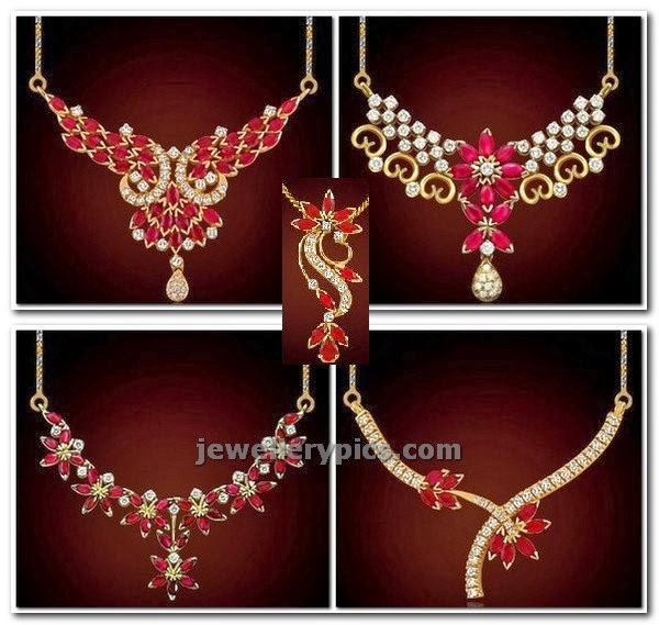 ruby diamond lockets in gold catalogue by PNG diamonds
