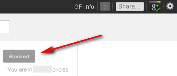 Google+: Blocked Person