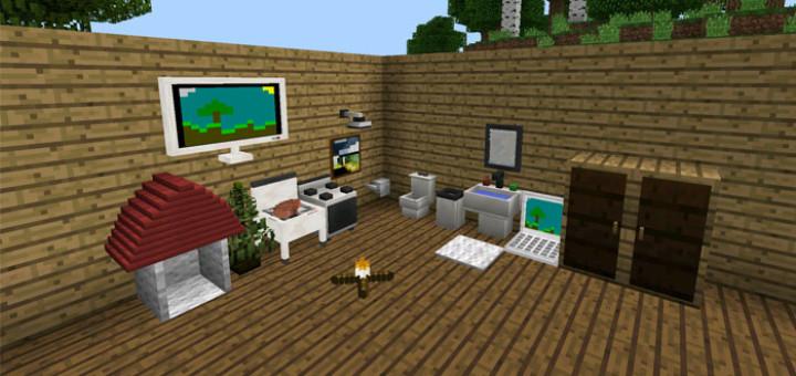 Mod More Furniture Mod Minecraft Pe Pocket Mcpe