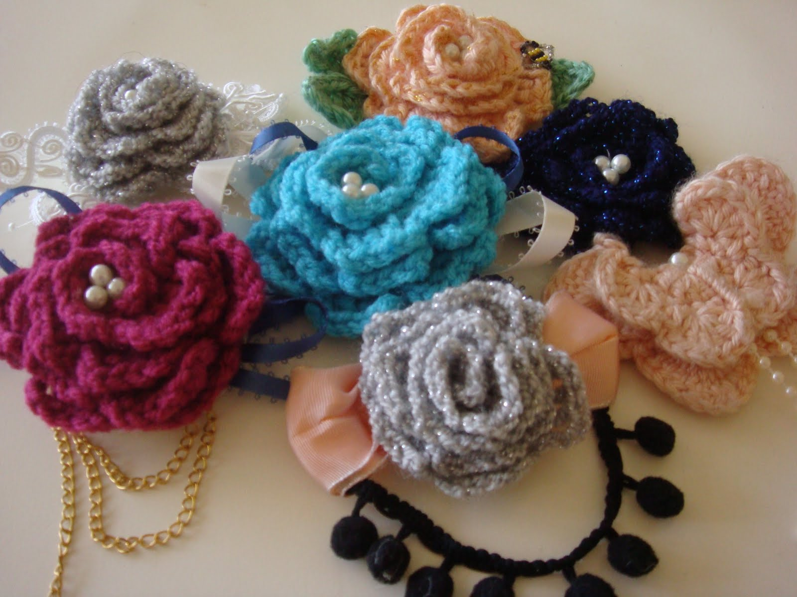 Crochet Hair Accessories Video : Crochet Pattern Central Free Hair Accessories Crochet Pattern 2015 ...