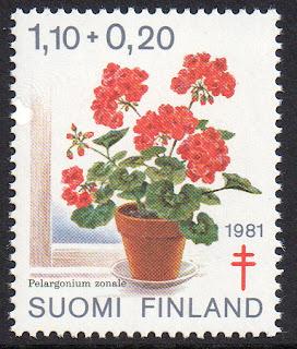 1981 Pelargonium zonale, Suomi Finland