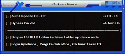 Cheat Ayodance Auto Deposito 500k v.6096 By Darkness Dancer