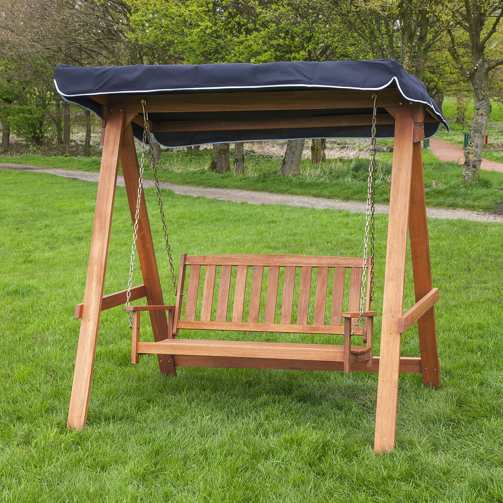 Wood Patio Swing With Canopy Instant Knowledge