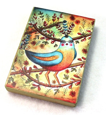 magnet with drawing of a bird