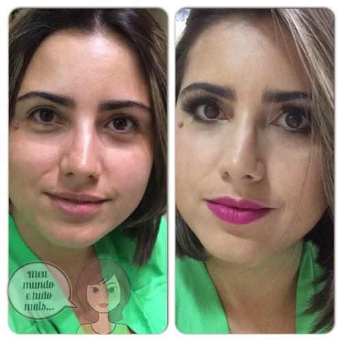 antes e depois de make