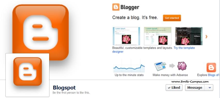 Blogspot.com Facebook Timeline Page