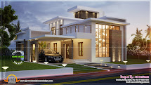 Awesome 3000 Sq.feet Contemporary House Home Kerala Plans