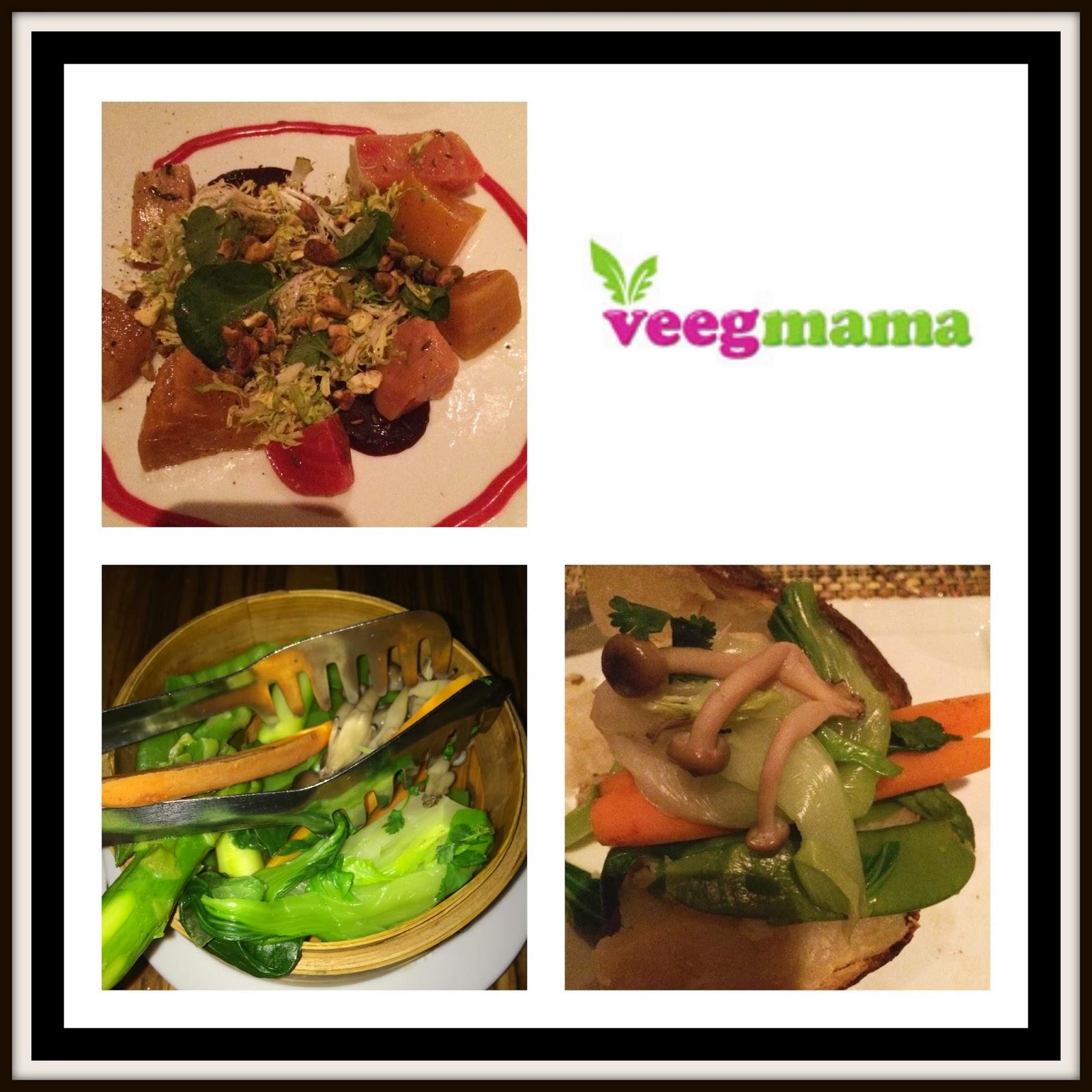 VeegMama's vegan dinner at steakhouse, BOA