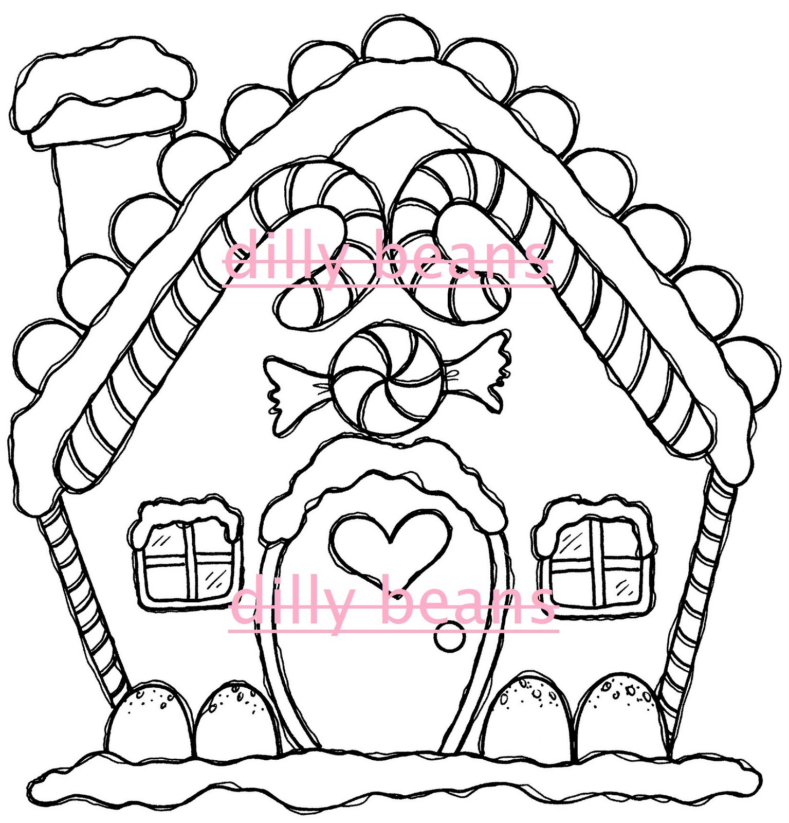 Gallery For gt Gingerbread House Drawing