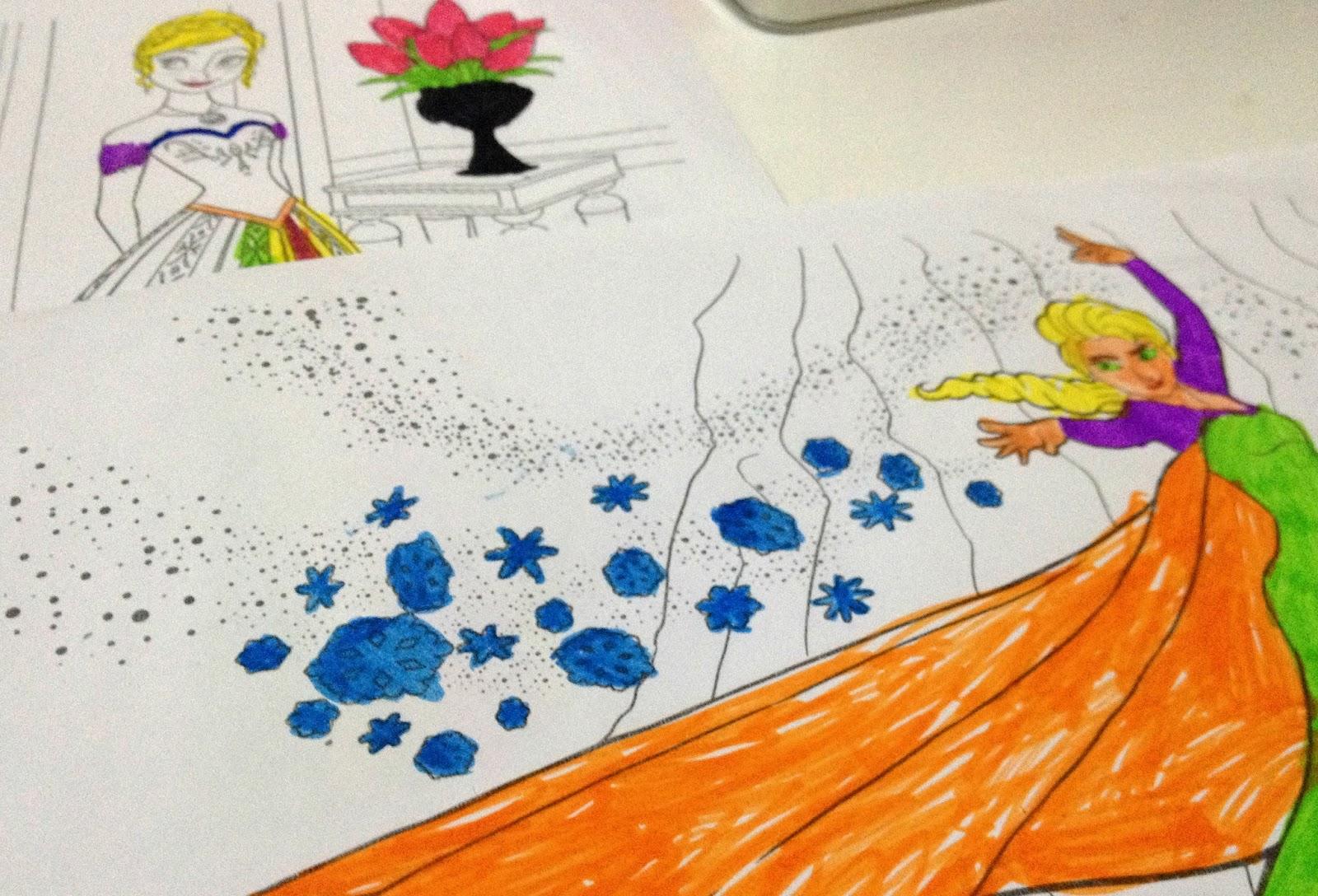 coloriage a imprimer la reine des neiges Tresor de momes