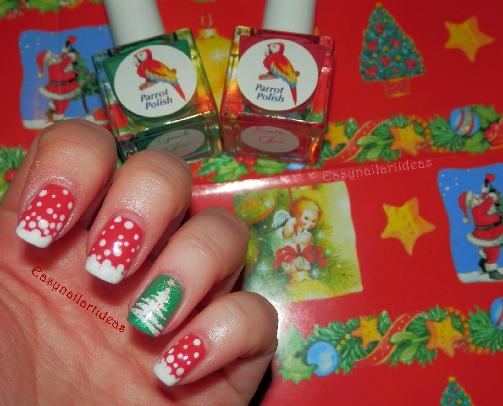 Easy Nail Art And Make Up Ideas Christmaswinter Nail Art 1