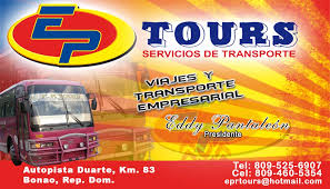 EPTOURS la excelencia en el transporte turistico , ejecutivo y empresarial en Bonao y todo el pais