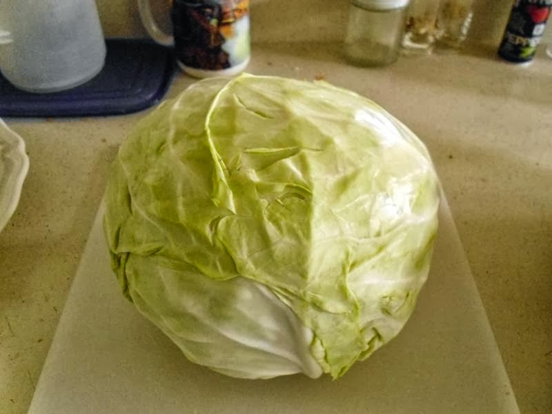 Cabbage before chopping