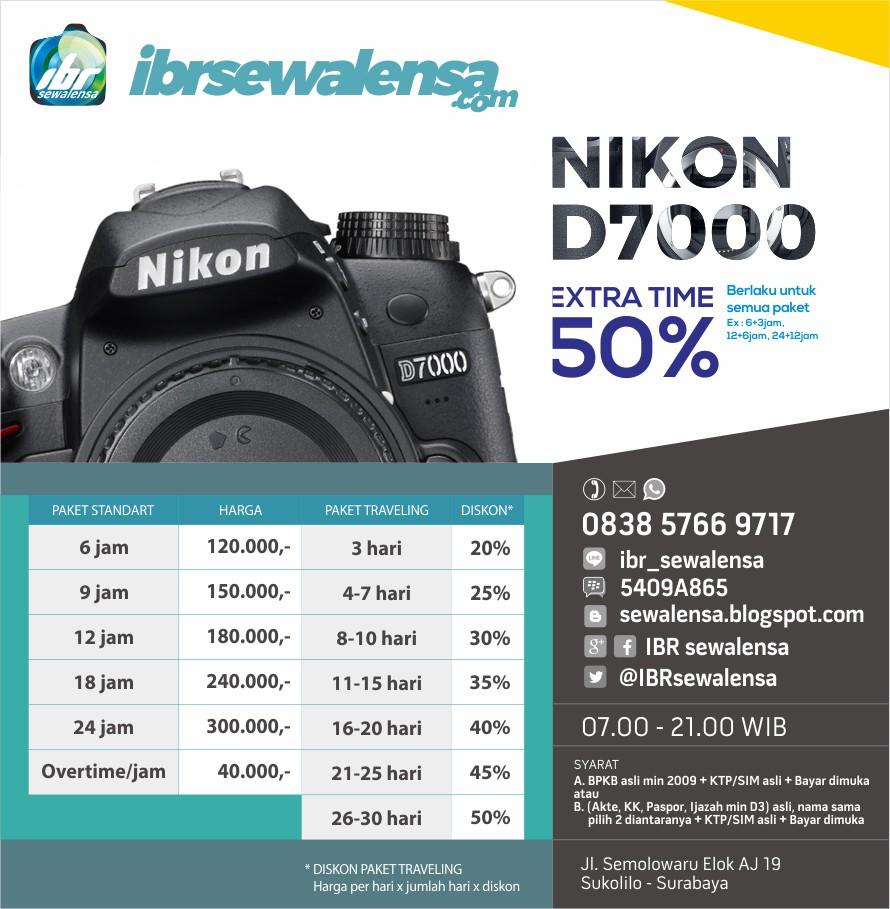 Nikon D7000 Harga Sewa Rental Lensa Kamera
