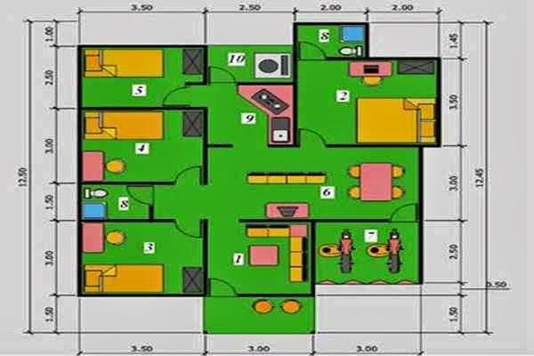 Aneka inspirasi Desain Rumah Mewah 1 Lantai yg keren