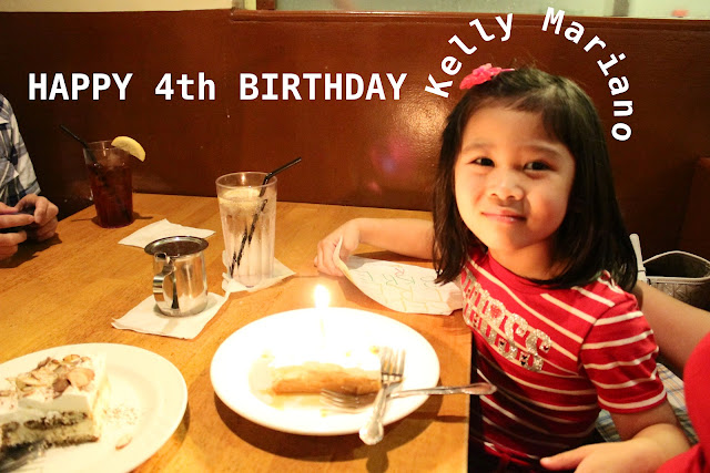 Happy fourth birthday Kelly!