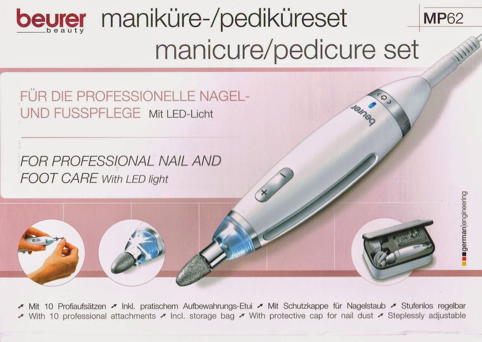 Josefine 21 Test Blog: Beurer Maniküre-/Pediküre - Set MP 62 ...