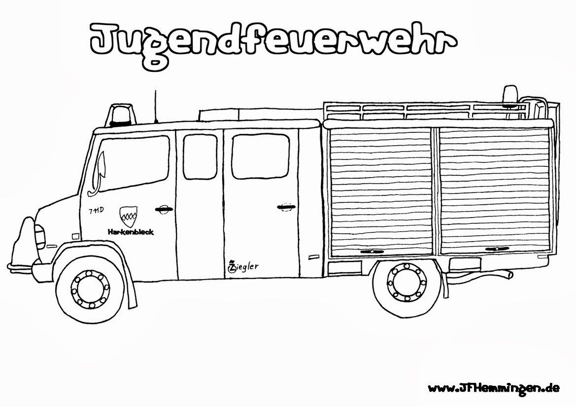 Ausmalbilder Feuerwehr Ausdrucken : Niedlich Feuerwehrauto Malvorlagen Zum Ausdrucken Ideen