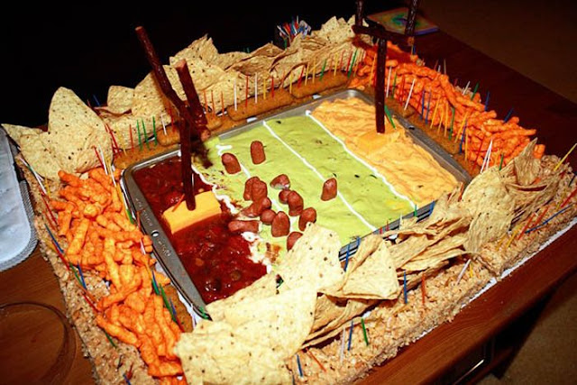 Football Stadiums Food Sculptures