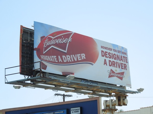 Budweiser Designate driver billboard