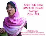 SHAWL SILK ROSE