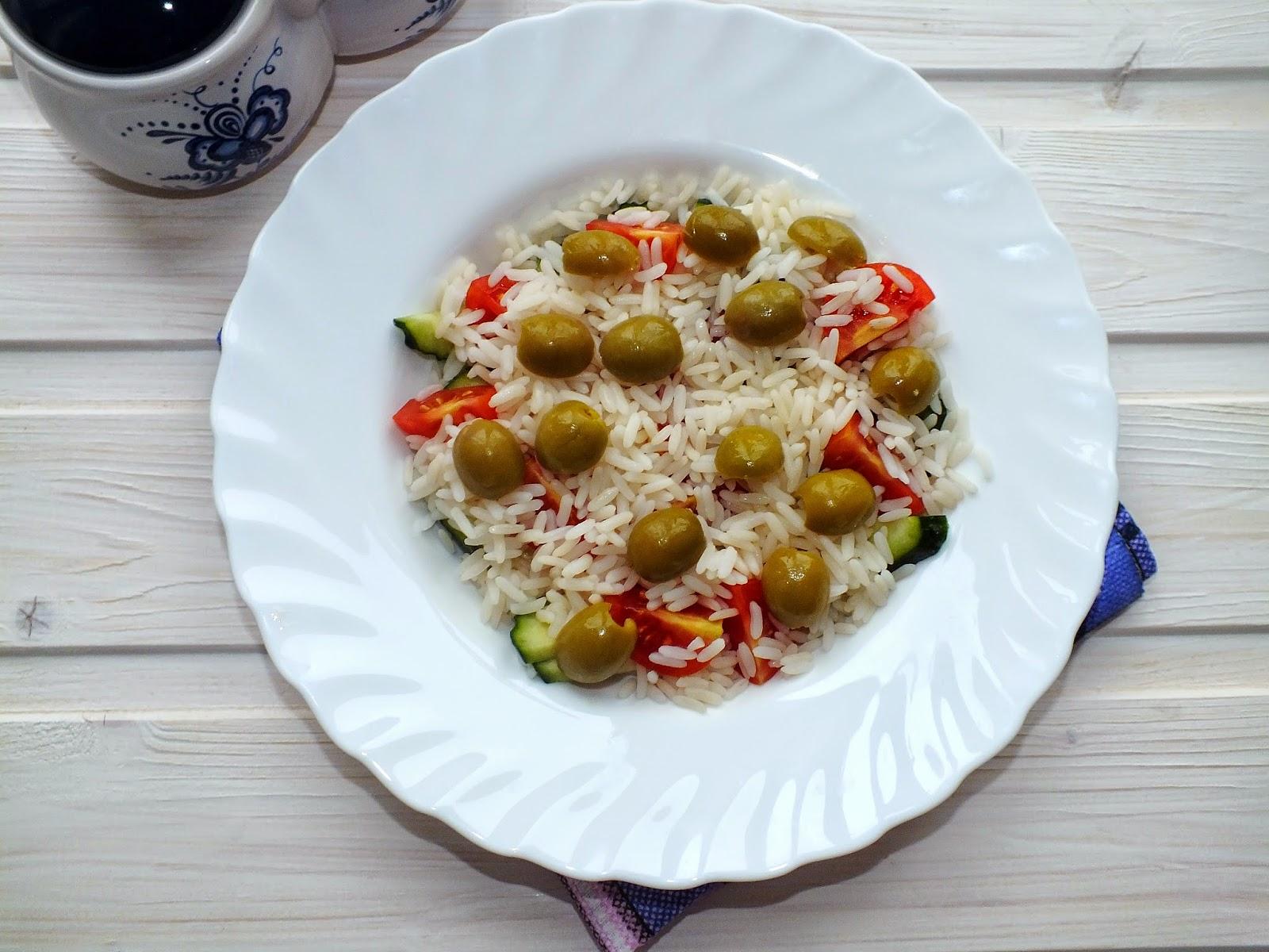 Салат с рисом и овощами рецепт пошагово