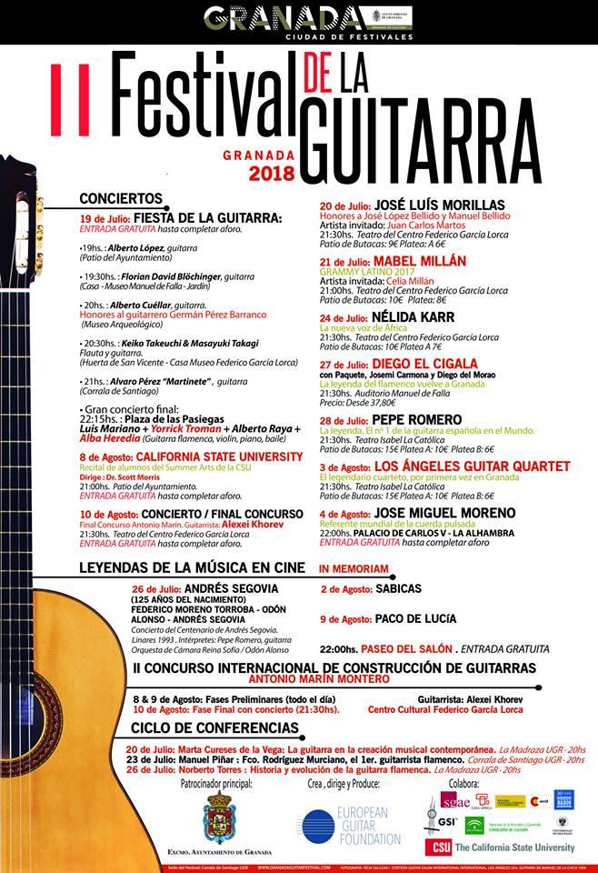 2 festival de la guitarra . Granada 2018