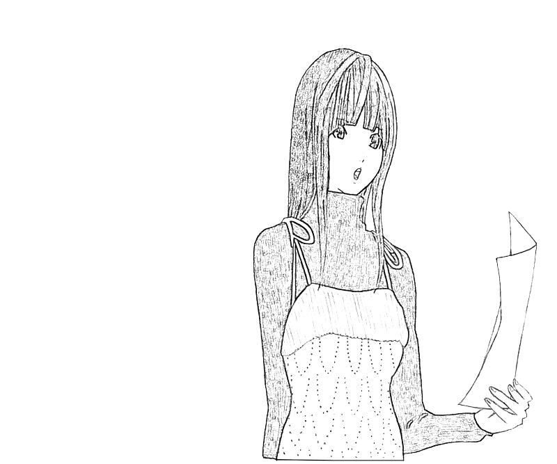 printable-miho-azuki-singing-coloring-pages