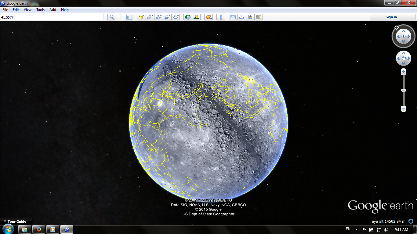 how to change planets on google earth