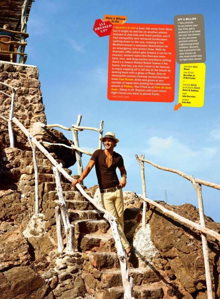 Magazine Photoshoot : Marlon Teixeira & Bar Paly Photoshot For GQ Magazine US January 2014 Issue