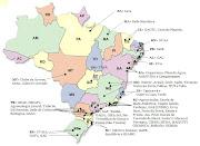 Muito bom!! Mapa dos Grupos de Agroecologia do Brasil (mapa brasil gas)
