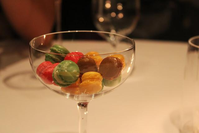 Miniature macarons at Menton