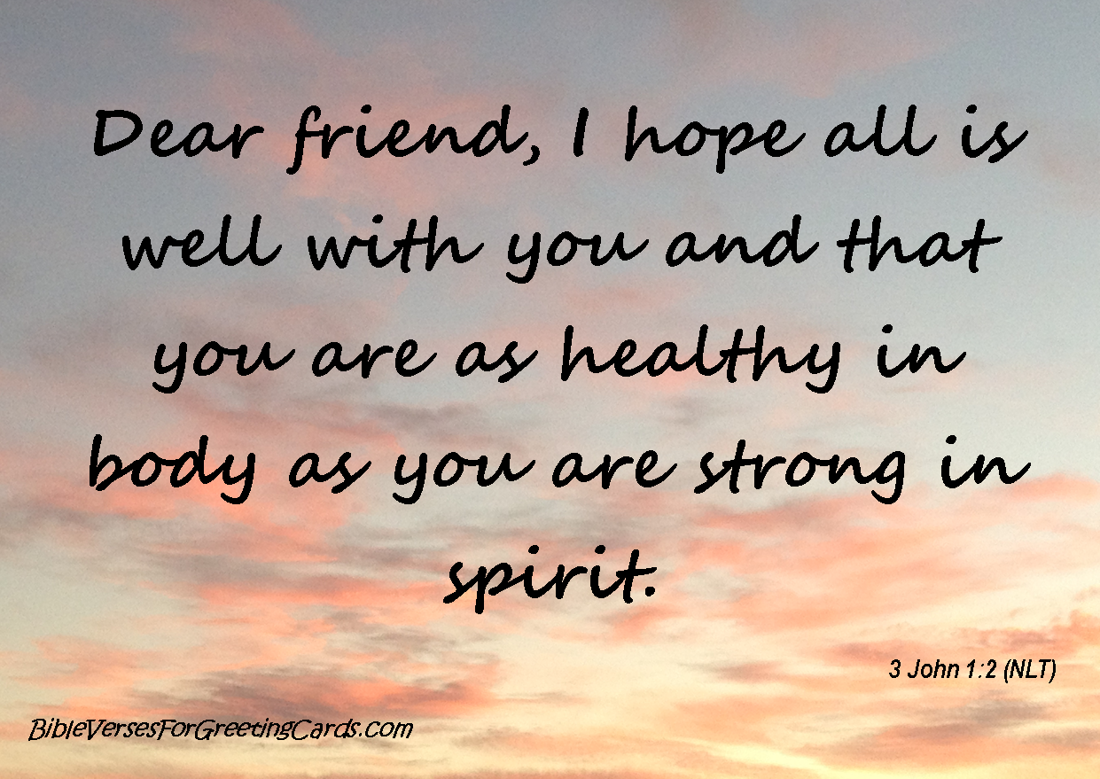 Bible verses for greeting cards 3 john 12 dear friend sunday 25 may 2014 m4hsunfo