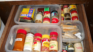 Spice drawer with trays