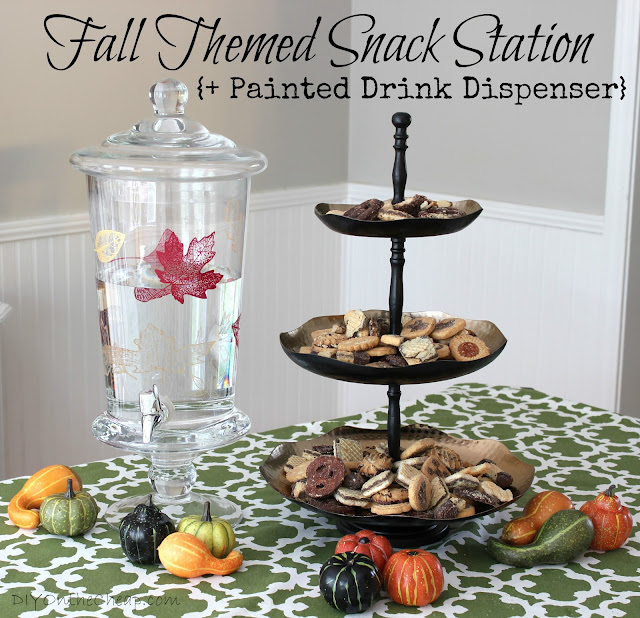 Fall Themed Snack Station {+ Painted Drink Dispenser} & World Market Sweepstakes!