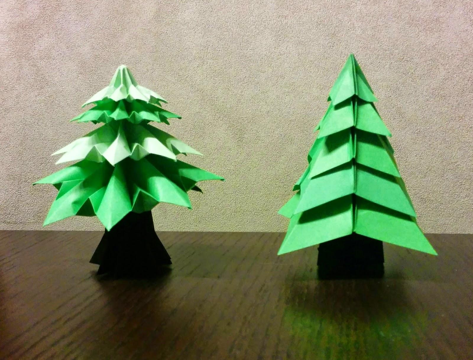 Los chiribiquis de winga rbol de navidad de origami ii - Arbol de navidad origami ...