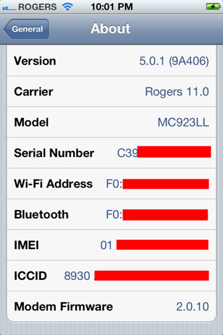 Downgrade 5.1 to 5.0.1 iPhone 4S 2.0.10 baseband