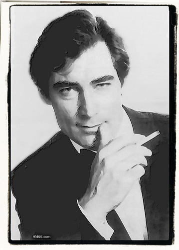 Timothy Dalton Smoking
