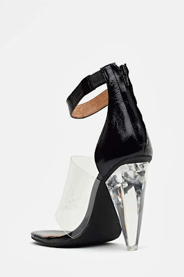 Jeffrey Campbell Not There Sandals Black