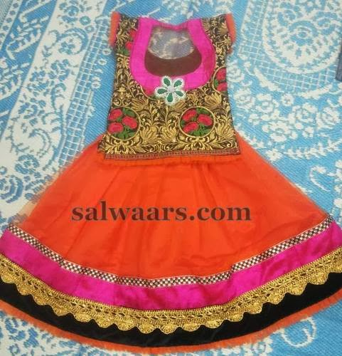Lotus Flowers Classy Kids Skirt